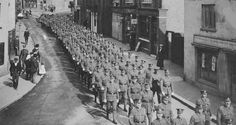 Sportsman's Battalion (stationed at Grey Towers) march down Hornchurch High Street, London History, As Time Goes By, Tumblr Funny, Ancestry, Towers, Once Upon A Time, Great Places, Stamping, Nostalgia