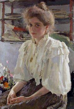 Valentin Serov/Валентин Серов... The portrait of Maria Lvova. 1895