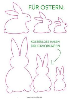 DIY Ostern Free print template for your spring and Easter decorations! Felt Crafts, Easter Crafts, Diy And Crafts, Crafts For Kids, Easter Ideas, Children Crafts, Creative Crafts, Yarn Crafts, Bunny Crafts