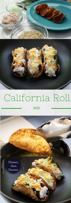 Crispy California-Roll Tacos