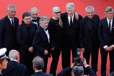 Jane Campion, Ken Loach, Michael Haneke, Costa-Gavras, Cristian Mungiu, Nanni Moretti, David Lynch,  Bille August, Claude Lelouch, Roman Polanski, Jerry Schatzberg, Mohammed Lakhdar-Hamina and Laurent Cantet attend the 70th Anniversary screening during the 70th annual Cannes Film Festival at Palais des Festivals on May 23, 2017 in Cannes, France.