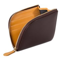 Ettinger London Luxury Leather Bridle Hide Nut Zipped Curved Wallet with Key Strap