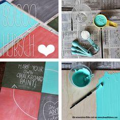 Tafelfarbe selbst machen