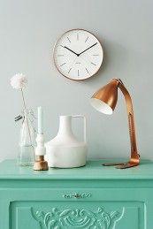 Reloj minimal cobre. #deco #minimal #relojes #watches #fashion clocks Present Time Tonos pastel