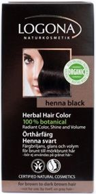 Logona Herbal Hair Colour Powder Henna Black for brown to dark-brown hair. The herbal hair colours are especially gentle and lasting. A composition of indigo powder and caring botanical ingredients like organic jojoba oil (from controlled organic cultivation) provides radiant colour, shine and volume. BDIH. Natrue Certified. Logona Organic Seal. Vegan. http://www.theremustbeabetterway.co.uk/logona-herbal-hair-colour-powder-henna-black.html