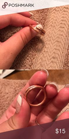 7c78a74aea5 Handmade rose gold ring Rose gold handmade ring. Good condition. Size 7-8