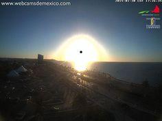 Puesta de sol en este momento en San Francisco de #Campeche