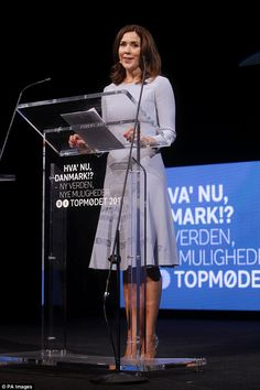 The royal gave a speech to delegates at the annualDanish Industry Business Summit...
