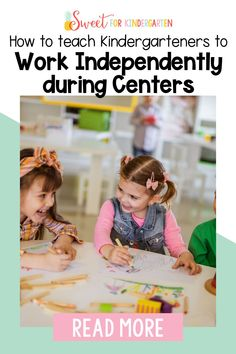 Can your kindergarten students work independently? YES, they CAN! Are you trying to figure out how to make that happen? Check out these tips and tricks for teaching your kindergarteners HOW to work independently during centers and small groups. Click the pin to learn some top tips to help teach your kindergarten students how to work independently!