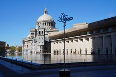 The Christian Science Center plaza, already one of the most beautiful spots in the city, is sporting an array of temporary public art installations.  Each weekend through October one of the artists will walk you around the plaza and talk about the work.  There are even weekly free workshops on arts administration topics!