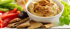 This tasty vegan dip gets its healthy game on when served with veggie dippers and pita wedges. Bring on the hungry noshers!