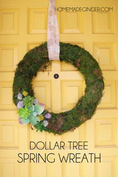 Learn how to make a spring wreath with just a few supplies from Dollar Tree!