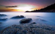 Tailândia, Tailândia, ilha de phuket, mar, oceano, calma, Costa, Costa, rochas, noite