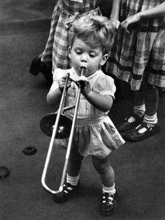 "Grace Robertson ""The Matthews Junior Quartet Vintage Children Photos, Vintage Photos, Precious Children, Beautiful Children, Nostalgia, Trombone, Music For Kids, Photo Story, Black White"