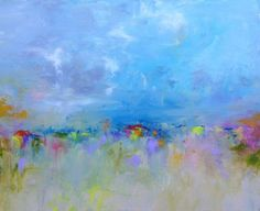 Reserved for Madeline  Abstract Landscape by SallyKellyPaintings