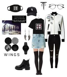 """BTS WINGS TOUR // Concert Outfit // 17.03.24 ✨"" by priscilla-cartagena ❤ liked on Polyvore featuring Elie Saab, Joomi Lim, CLUSE, Ray-Ban, River Island, Ksubi, kpop and bts"