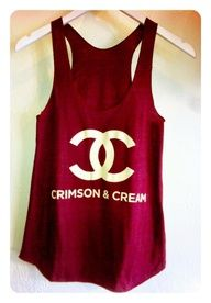 Chanel crimson and cream tank.