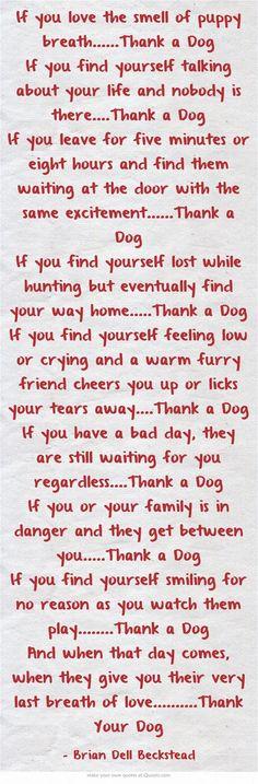 Thank a Dog