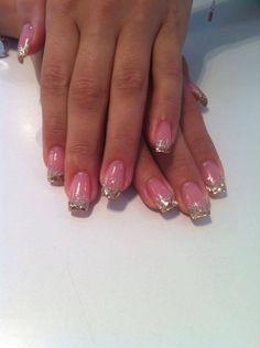 gorgeous glitter gel nails