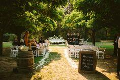 Roberts Restaurant garden wedding ceremony. Hunter Valley wedding photographer. Image: Cavanagh Photography http://cavanaghphotography.com.au