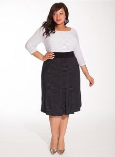 I never tire of #polkadots!  This Plus Size dress has the polka dots I love and its perfect for work!