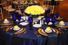 Image result for blue and yellow wedding cake