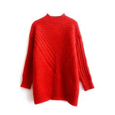 ZANZEA Women's Batwing Long Sleeve Oversized Sweater Plain Jumper ...