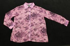 Notations Blouse Womens Size Medium Purple and Lilac Floral Print Sheer Top in Clothing, Shoes & Accessories, Women's Clothing, Tops & Blouses | eBay