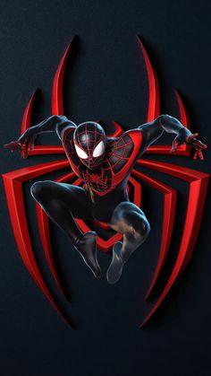 Black Spiderman, Spiderman Spider, Amazing Spiderman, Spiderman Anime, Spiderman Cosplay, Marvel Art, Marvel Heroes, Marvel Avengers, Ps Wallpaper