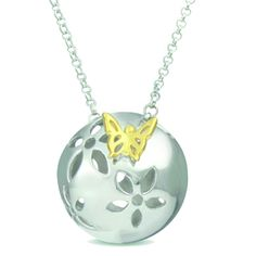 """Bring me Spring Sterling ailver with gold butterfly. """"It's your time to blossom."""" #sterlingsilver #silver #jewelry #nature"""