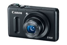 Canon PowerShot S100 12.1 MP Digital Camera with 5x Wide-Angle Optical Image Stabilized Zoom (Black) $386.99