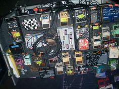 Kevin Shields' (My Bloody Valentine) pedalboard