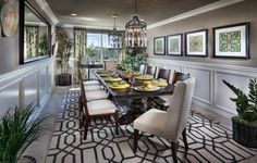 When Itu0027s Time To Dine And UNWIND, Is This @lennarinlandla Dining Room A  Space