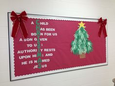 My Christmas bulletin board this year