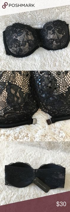 VS Bra! NWT Brand new! NWT. Magnet closure in front and lace on the back. Has thy sticky material in the inside which hold it up and give great support. Ask all questions prior to purchase •  bundle to save •  willing to consider any reasonable offer  <3 Victoria's Secret Intimates & Sleepwear Bras