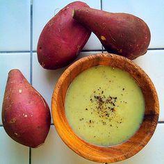 Cumin flavor potage of sweet potato