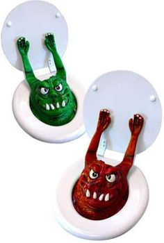 The Pop-Up Toilet Monster Scares People Who Lift the Seat #aprilfools #pranks trendhunter.com