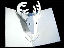 a Reindeer Pop up Card (Robert Sabuda Method) How to Make a Reindeer Pop up Card (Robert Sabuda Method) and directions for lots of other cards too!How to Make a Reindeer Pop up Card (Robert Sabuda Method) and directions for lots of other cards too! Pop Up Christmas Cards, Christmas Diy, 3d Cards, Pop Up Cards, Pop Up Card Templates, Origami Templates, Printable Templates, Printables, Colegio Ideas