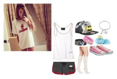 """""""Hanging out with Tyler. ~Autumn"""" by winter-an0ns ❤ liked on Polyvore featuring Topshop, Pedro Lourenço, Disney, Bling Jewelry, Falke, Converse and Eos"""