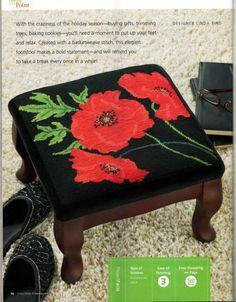 Free Needlepoint foot stool pattern - part 1