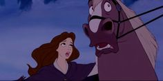 I always thought Belle looked like Vanessa (evil human Ursula) in this scene!