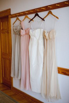 I love the idea of different bridesmaid dresses. No body is the same, why not let everyone pick their own