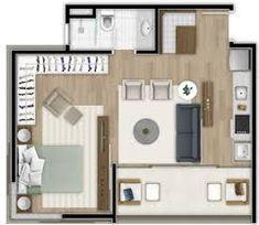Resultado de imagen para plantas de apartamentos studio