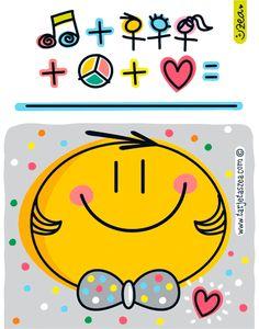 Para estar contento-Carita feliz. © ZEA www.tarjetaszea.com