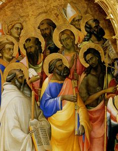 Uffizi Gallery. LORENZO MONACO. Coronation of the Virgin, detail. c. 1465 High Renaissance, Monaco, 15th Century, Siena, Firenze, Gallery, Artwork, Painting, Detail
