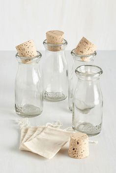 DIY favors! Fill them with seashells, jelly beans, candies, coffee beans, bath salts, olive oil, lemonade.