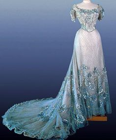 1900's - Russian - Ice Blue Gown