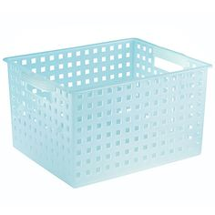Plastic Decorative Storage Basket: Use to organize plastic dishes in a drawer. Use a different colored basket for each type of dish so the kids can put the dishes away properly.