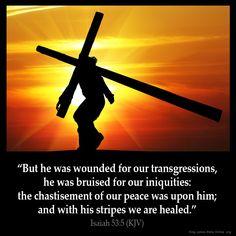 Isaiah 53:5 Inspirational Image