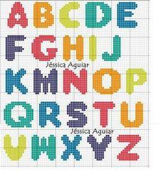 Crochet Alphabet, Crochet Letters, Cross Stitch Designs, Stitch Patterns, Hamma Beads Ideas, Plastic Canvas Letters, Diy Perler Beads, Cross Stitch Letters, Plastic Canvas